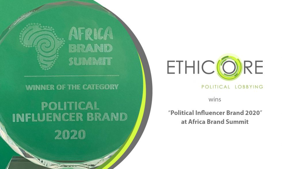 """Political Influencer Brand 2020"" award at Africa Brand Summit"